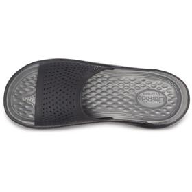 Crocs LiteRide klapki, black/slate grey